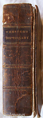 1ST ABRIDGED AMERICAN DICTIONARY of the ENGLISH LANGUAGE, WEBSTER,1829, V. RARE