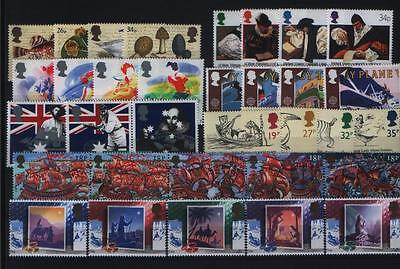Gb Complete Year All 8 Sets Commemorative Stamps Issued In 1988 Unmounted Mint