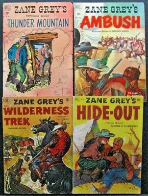 Zane Grey / Four Color # 246 314 333 346 (Lot Of 4)