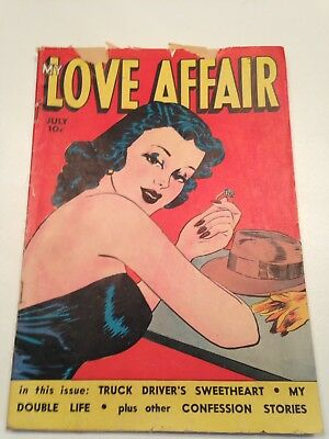 My Love Affair #1 - Classic Headlights Cover Extremely Rare 1st Issue Fox 1949