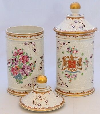 Antique Apothecary Jars from the French firm Samson. Hand painted