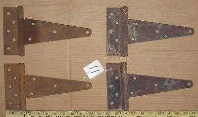 4 Vintage Hinges Barn Door Gate Rustic Primitive Strap Hinge 10 Inch Lot 11