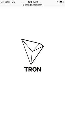 TRON TRX (100) coins transfer to your wallet. Huge gains in 2018