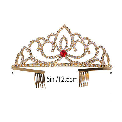 Crystal Rhinestone Bridal Crown Bling Queen Tiara Side Comb Jewelry for Wedding