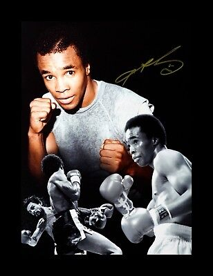 Sugar Ray Leonard Box handsigniert Foto Authentisch Original + COA - 16x12