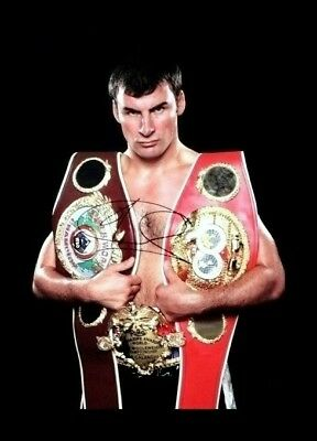 Joe calzaghe Box handsigniert Foto Authentisch Original + COA - 30x20