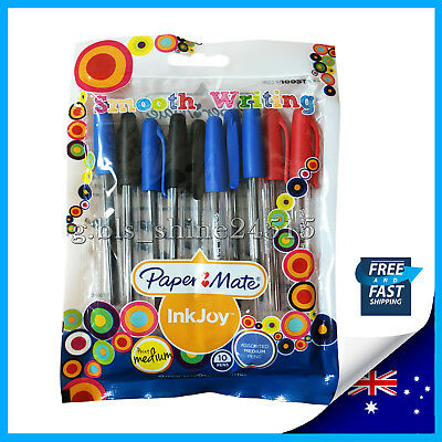 PaperMate InkJoy 100 Ballpoint Pens Assorted Colours 10 Pack Office School Home