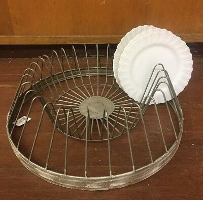 New Primitive Farmhouse Chic RUSTIC METAL PLATE RACK File Holder Stand