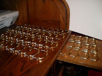 Lot Of 52 Matching Vintage? Drawer Pulls Cupboard Door Handles Brass Finish