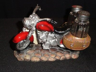 Ceramic Motorcycle Salt And Pepper Shaker Set By Dwk Corporation
