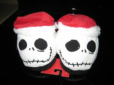 Disney Tim Burtons The Nightmare Before Christmas Jack Head Santa Slippers