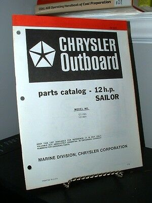1978 Chrysler Outboard 12 HP SAILOR Parts Catalog OB3075 - Good - 24 Pages