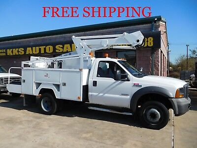 2005 Ford F-550 Utility Service Truck With Bucket - Boom Truck Diesel