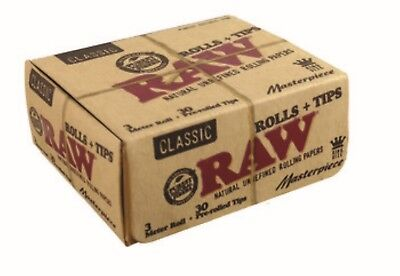 RAW Classic Masterpiece Kit King Size Papers/Rolls with Pre Rolled Tips by eTren