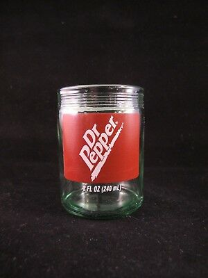 YAVA Glass - Upcycled RARE Collectible DR PEPPER Soda Bottle Glass