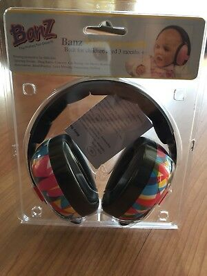 Baby BanZ EarBanZ Hearing Protection Geo Print Small ear earmuffs noise safety