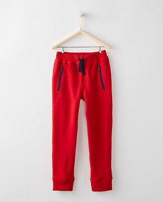160 boys or girls Hanna Andersson Slim Sweatpants RED NWT