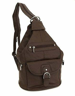 Womens Genuine Leather Backpack Purse Sling Shoulder Bag Handbag In Convertible