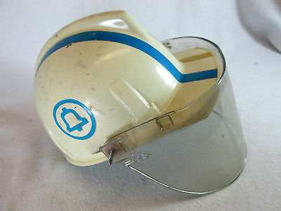 Vintage 1970s Bell Telephone System lineman's safety hard hat w/face shield