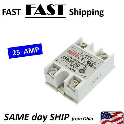 Solid State Relay - 25A max. -- 3-32VDC - works with 24vDC 12vDC etc. 3-32 volt
