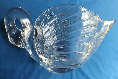 Swan Bowl CRISTAL DARQUES FRANCE 24% LED CRYSTAL WITH ORIGINAL  STICKER