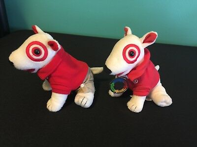 Target Bullseye Dog Plush - Red and Khaki and Trainer Dogs
