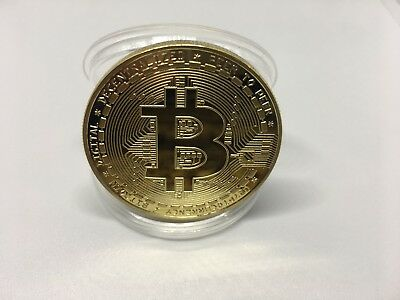 BITCOIN Physical Bitcoin in protective acrylic case FAST SHIPPING!!