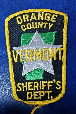 Orange County, Vermont Sheriff's Dept (Police) Shoulder Patch Vt 2