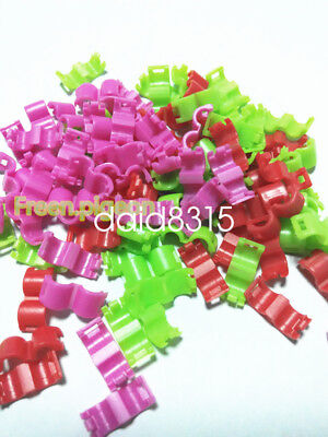 mixed color 5 Colors Bird Ring Leg Bands Parrot Finch Canary Grouped (3 mm )