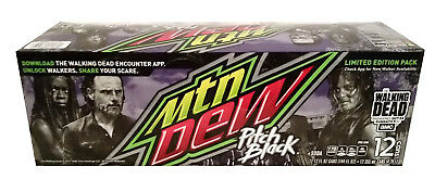 Mountain Dew Pitch Black - The Walking Dead Limit. Ed. 12 pack of unopened cans