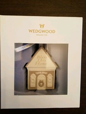 Wedgwood Christmas ornament Bless this home