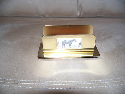 BARLOW Brass Business Card Holder NEW OLD STOCK