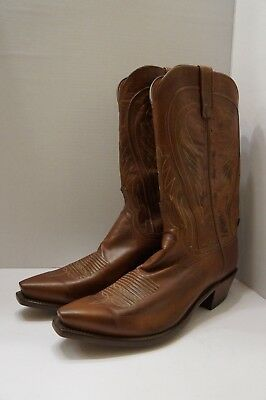 8723fcee309 LUCCHESE 1883 MEN'S Bart Ranch Hand Leather Cowboy Boot N1596 54 size 9.5