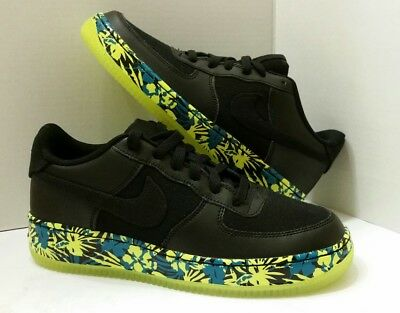 online store fab0b f64bb New GS Nike Air Force 1 Rio 748981 007 size 6.5Y Black Sneakers Trainers  Volt