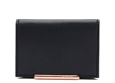Mimco Revel Black Card Wallet Purse Nappa Leather Authentic New