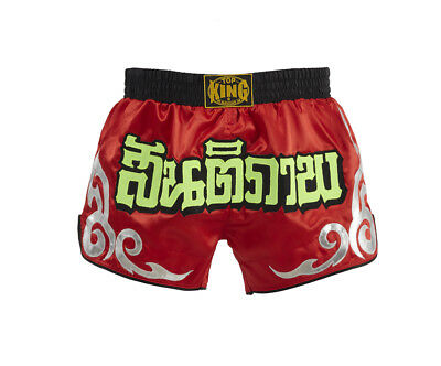 Top King Muay Thai Boxing Shorts Retro Red