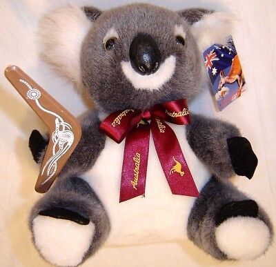 Boomerang bear koala plush doll american greetings cards blue australia united souvenirs 8 koala bear plush with boomerang soft toy m4hsunfo