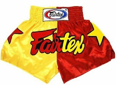 Fairtex Muay Thai Boxing Shorts Limited Collection Patriot Yellow Red