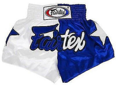 Fairtex Muay Thai Boxing Shorts Limited Collection Patriot White Blue