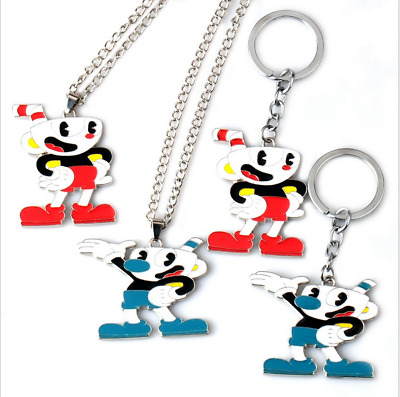 Funko Vinyl Figure Cuphead Cuphead-Mugman Keychain  Devil Collectible Necklace