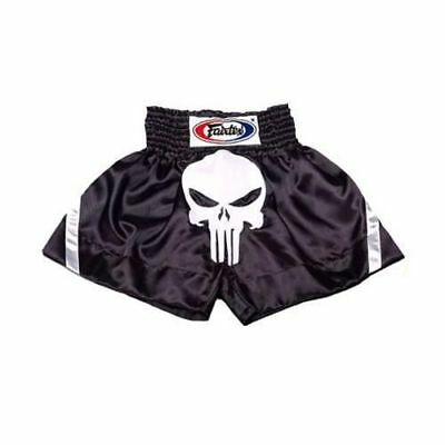 Fairtex Muay Thai Boxing Shorts Black with Punisher Logo