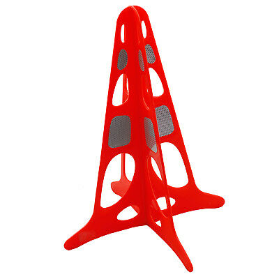 2x Bastion TRAFFIC SAFETY CONE 510mm With Reflectors, Highly Visible, Detachable
