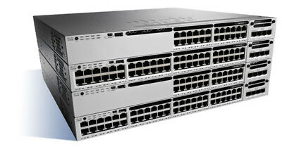 Cisco Catalyst WS-C3850-48P-S Managed Power over Ethernet (PoE) Black, Grey netw
