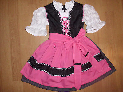 "NEU festliches   Kinder Dirndl  gr. 86/92   ""MADE WITH LOVE"""