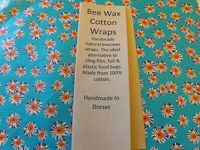 Beeswax Wax  Natural Eco food wraps that fit your family's  lifestyle 30 x 27cm