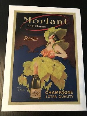 Original Vintage Poster Morlant Champagne Extra Quality ca.1920 by J. Stall
