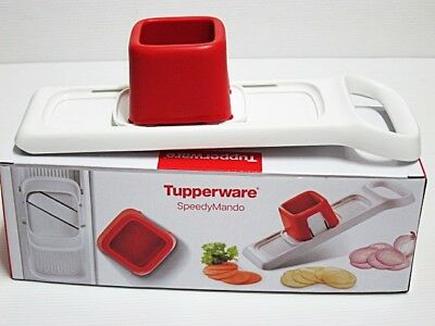 New Tupperware Speedy Mando Two Way Slicer Double The Speed Anti-Skid Stopper
