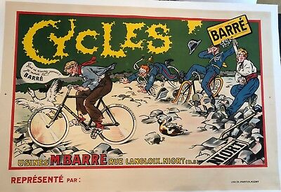 Original Vintage Poster Cycles Barré ca.1910