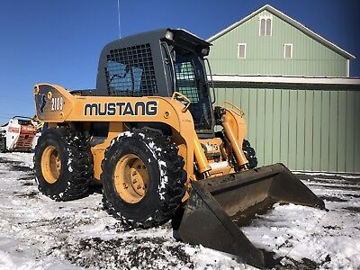 2008 Mustang 2109 Skid Steer Loader Skidloader Enclosed 2 Spd High Flow Cummins
