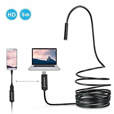 USB Borescope, Depstech Semi-rigid Endoscope Inspection Camera 2.0 Megapixels
